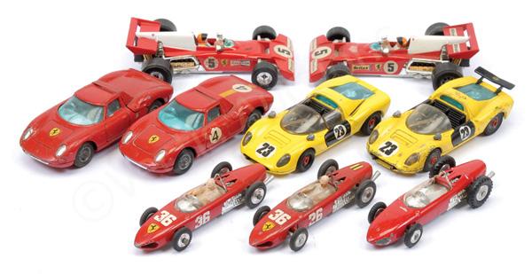 GRP inc Corgi unboxed Ferrari models 206 Dino