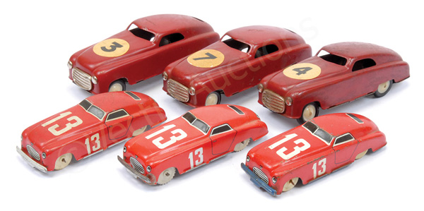 GRP inc Italian made tinplate Racing Cars