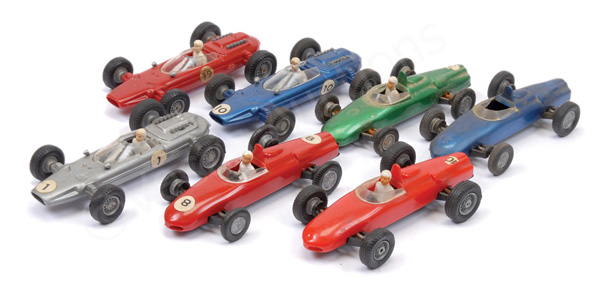 GRP inc Politoys plastic Racing Cars Ferrari