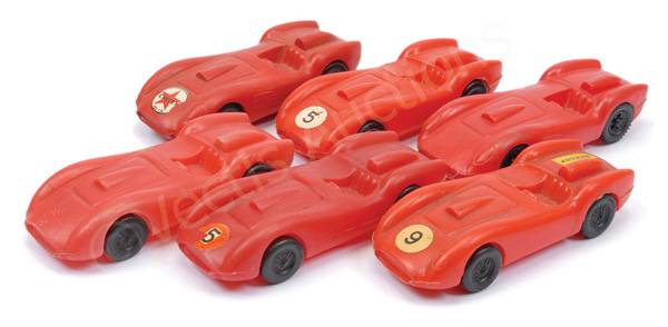 GRP inc French made plastic Ferrari Racing Cars