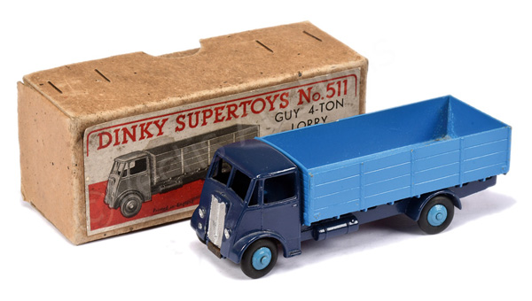 Dinky No.511 Guy 4-ton Lorry - dark blue cab