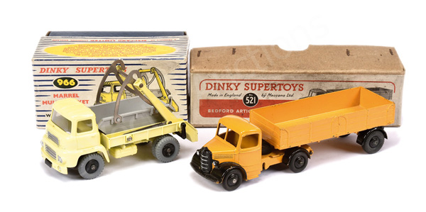 PAIR inc Dinky No.521 Bedford Articulated Lorry