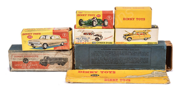GRP inc Dinky empty boxes No.196 Holden; No.641