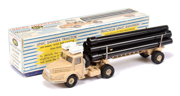 French Dinky No.893 Articulated Pipe Truck