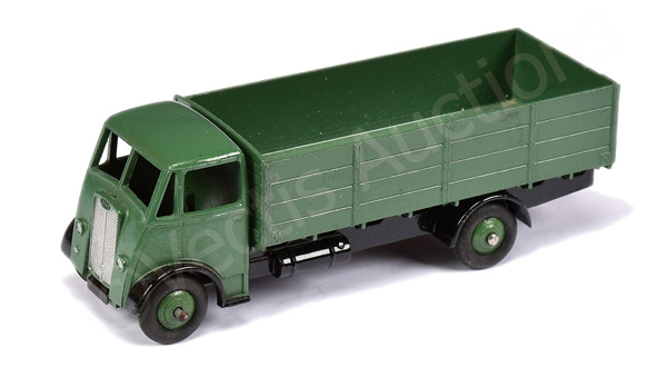 Dinky unboxed Guy 4-ton Lorry - green cab, back