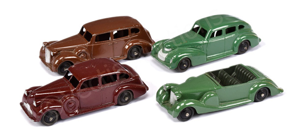 GRP inc Dinky unboxed Lagonda; Buick plus others