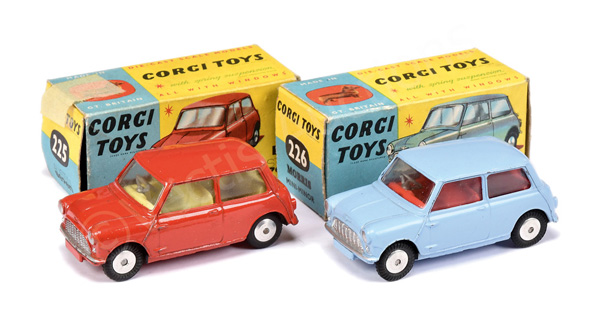 PAIR inc Corgi No.225 Austin 7 Mini - red body