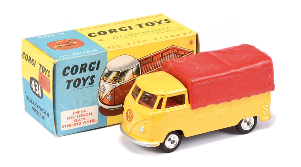 Corgi No.431 Volkswagen Pick-up - yellow body