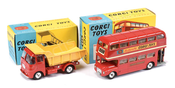 PAIR inc Corgi No.458 ERF Earth Dumper - red cab