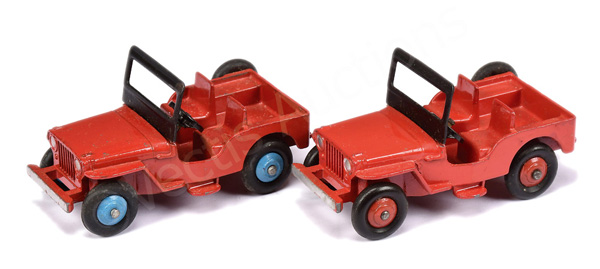 PAIR inc Dinky No.25y/405 Universal Jeep
