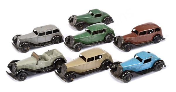 GRP inc Dinky No.30d Vauxhall; No.36b Bentley