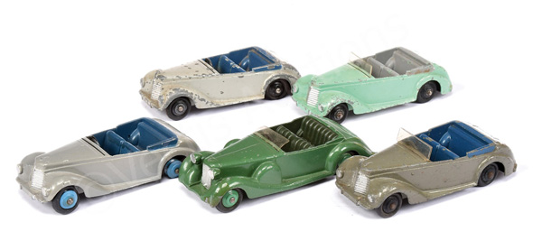 GRP inc Dinky No.38e Armstrong Siddeley; No.38c