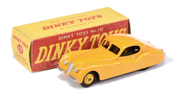 Dinky No.157 Jaguar XK120 Coupe - yellow body