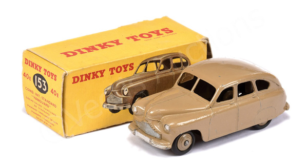 Dinky No.40e/153 Standard Vanguard Saloon - dark