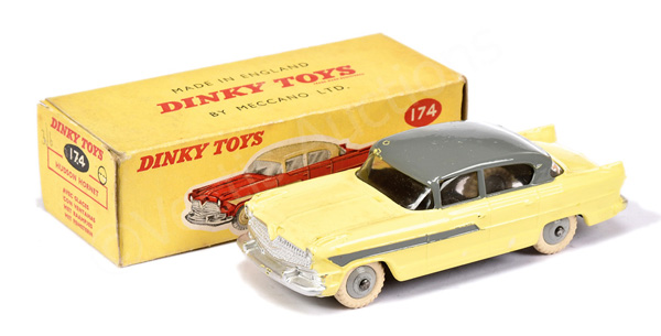 Dinky No.174 Hudson Hornet Sedan - lemon body