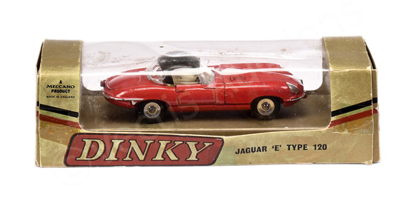 Dinky No.120 Jaguar Type E - red body, black