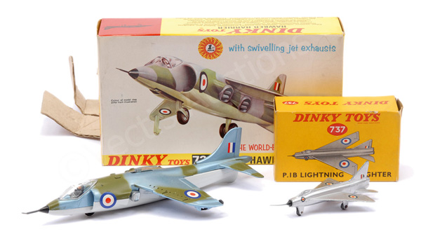 PAIR inc Dinky No.722 Hawker Harrier - finished