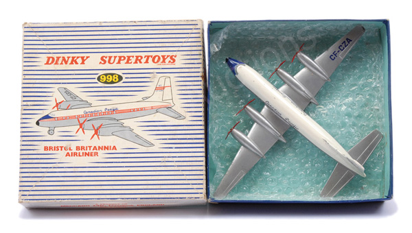 Dinky No.998 Crystal Britannia Airliner