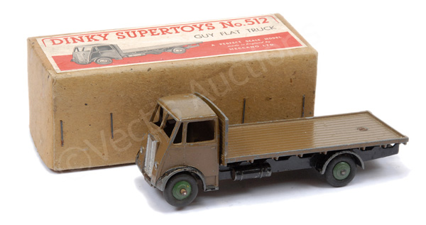Dinky No.512 Guy Flat Truck - brown cab