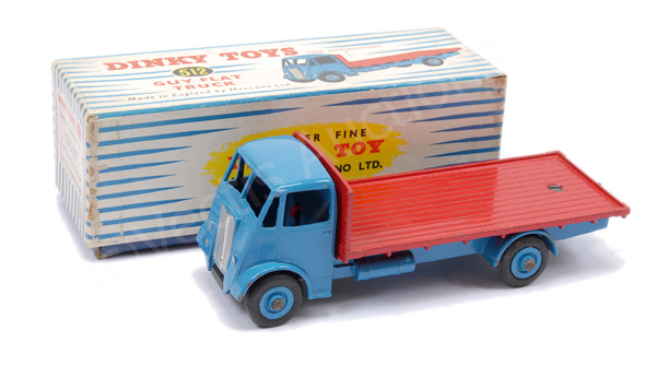 Dinky No.512 Guy Flat Truck - light blue cab