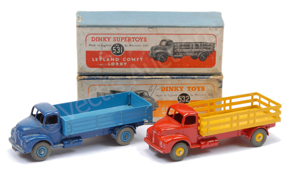 PAIR inc Dinky No.531 Leyland Comet Wagon - red