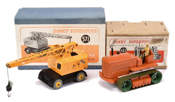 PAIR inc Dinky No.563 Heavy Tractor - orange