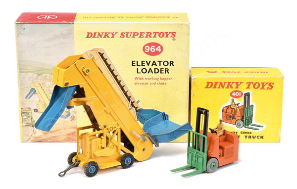 PAIR inc Dinky No.401 Coventry Climax Forklift