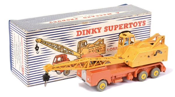 Dinky No.972 Lorry Mounted Coles Crane - orange