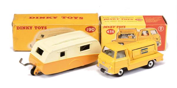 PAIR inc Dinky No.190 Caravan - two-tone