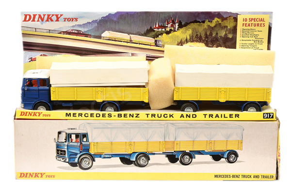 Dinky No.917 Mercedes Truck & Trailer - blue