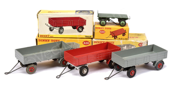 GRP inc Dinky Trailers 3 x No.428 (1) grey
