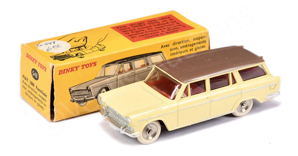 French Dinky No.548 Fiat 1800 Familiale - pale