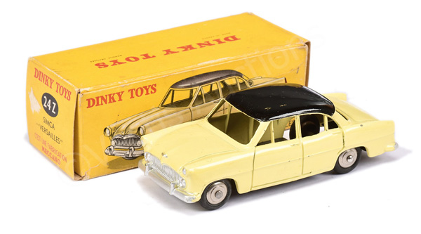French Dinky No.24z Simca Versailles - lemon