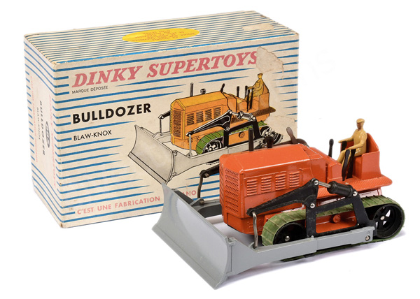 French Dinky No.885 Blaw Knox Bulldozer - burnt