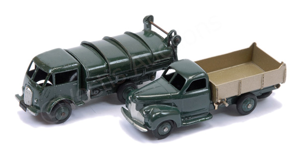 PAIR inc French Dinky No.25v Ford Refuse Truck