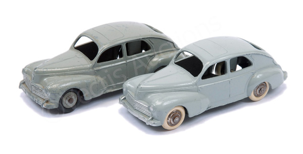 PAIR inc French Dinky No.24r Peugeot 203 - light