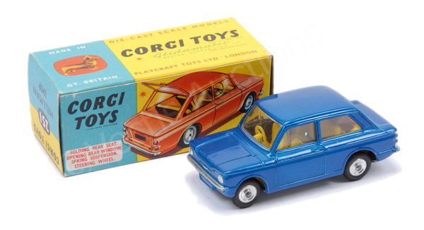 Corgi No.251 Hillman Imp - blue body, yellow