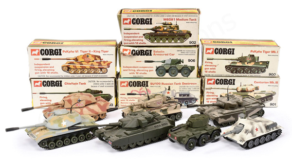 GRP inc Corgi No.900 Tiger Tank; No.901