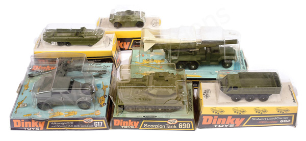 GRP inc Dinky Military bubble pack issues No.617