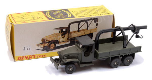 French Dinky No.808 GMC Crane Truck - military