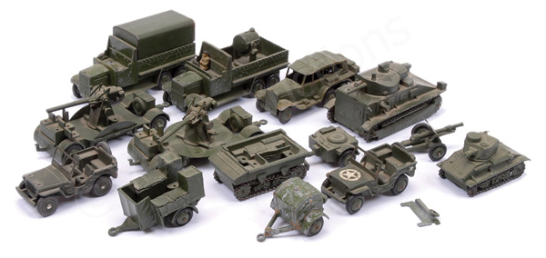 GRP inc Dinky Military unboxed some pre-war