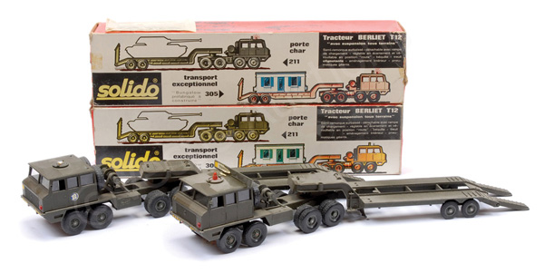 PAIR inc Solido Military Berliet Low Loader