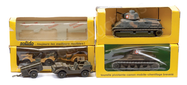 GRP inc Solido Military No.213 Jeep with Trailer