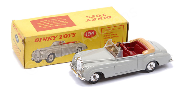Dinky No.194 Bentley Coupe - grey body, maroon