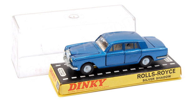 Dinky No.158 Rolls Royce Silver Shadow - blue
