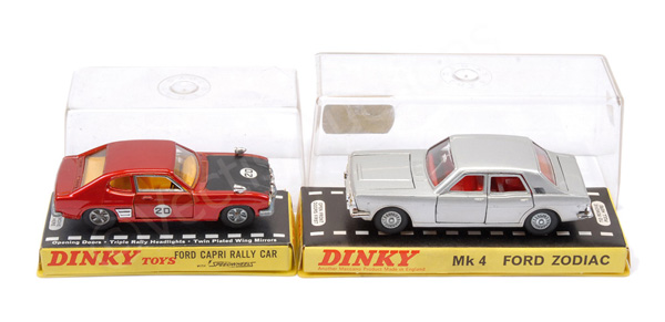 PAIR inc Dinky No.164 Ford Zodiac - silver body