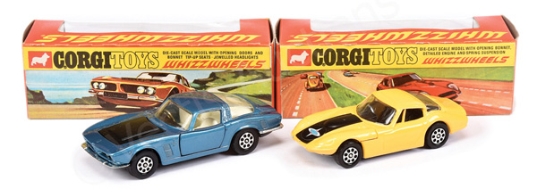 PAIR inc Corgi Whizzwheels a No.301 Iso Grifo