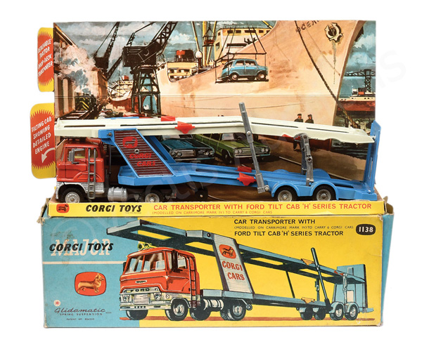 Corgi No.1138 Ford Car Transporter - orange cab