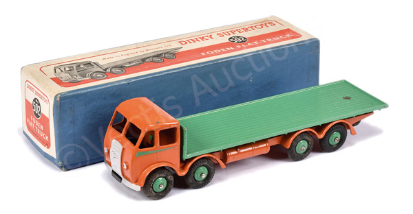 Dinky No.502 Foden (1st type) Flat Truck - burnt