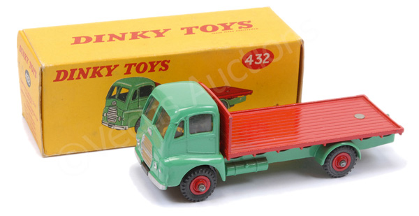 Dinky No.432 Guy Warrior Flat Truck - turquoise